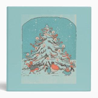 Vintage Christmas Tree Teal Binder