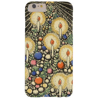 Vintage Christmas, Tree with Candles and a Star Barely There iPhone 6 Plus Case