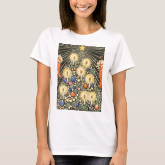 Vintage Christmas, Tree with Candles and a Star T-Shirt
