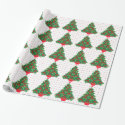 Vintage Christmas Tree Wrapping Paper