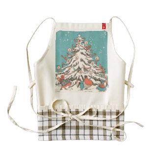 Vintage Christmas Tree Zazzle HEART Apron