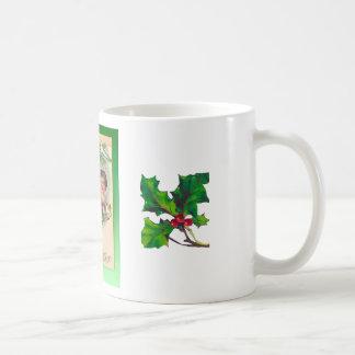 Vintage Christmas, two girls and a tree Coffee Mug