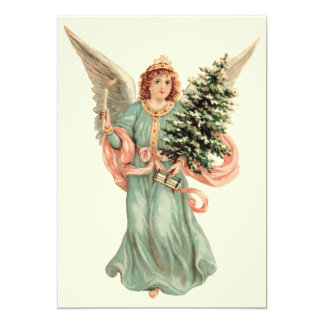 Vintage Christmas, Victorian Angel Christmas Party Custom Announcements