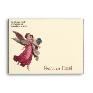Vintage Christmas, Victorian Angel Holding a Child Envelopes