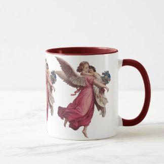 Vintage Christmas, Victorian Angel Holding a Child Mug