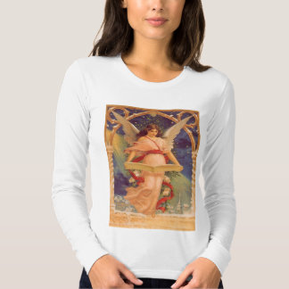 Vintage Christmas, Victorian Angel Reading Bible Tee Shirt