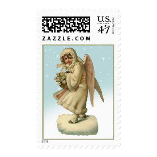 Vintage Christmas Victorian Angel Stamps