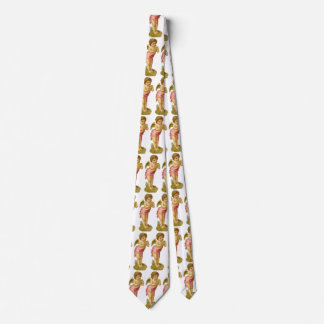 Vintage Christmas, Victorian Angel with Pan Pipes Tie