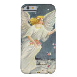 Vintage Christmas Victorian Angel with Stars Roses Barely There iPhone 6 Case