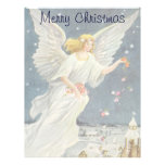 Vintage Christmas Victorian Angel with Stars Roses Customized Letterhead