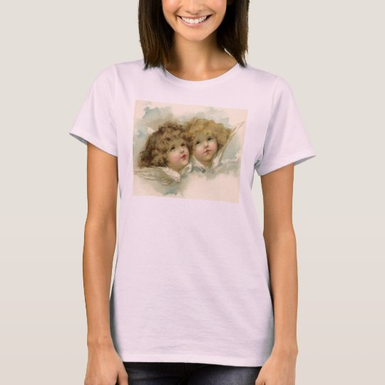 Vintage Christmas, Victorian Angels in the Clouds T-Shirt