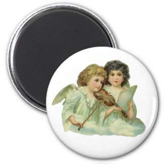 Vintage Christmas, Victorian Angels Music Violin Magnet