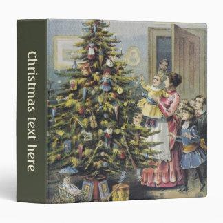 Vintage Christmas, Victorian Family Around Tree Binders