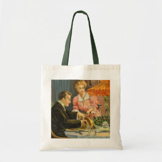 Vintage Christmas, Victorian Family Dinner Tote Bag