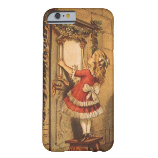 Vintage Christmas Victorian Girl Hanging a Garland Barely There iPhone 6 Case