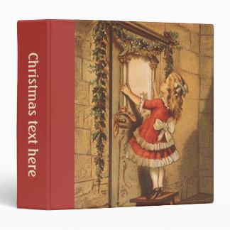 Vintage Christmas Victorian Girl Hanging Garland Vinyl Binders