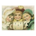 Vintage Christmas, Victorian Girls, Children Postcards