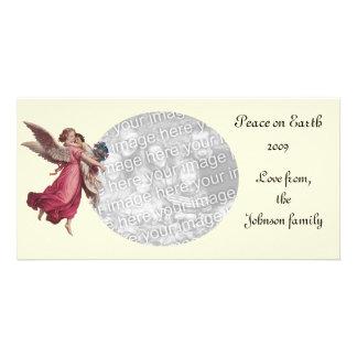 Vintage Christmas, Victorian Guardian Angel Card