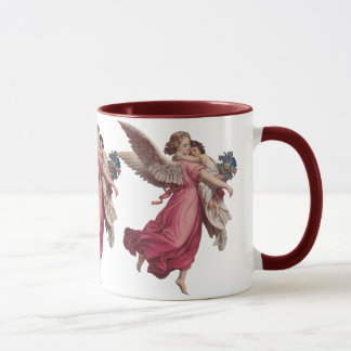 Vintage Christmas, Victorian Guardian Angel Mug
