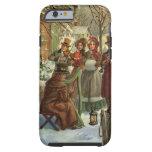 Vintage Christmas, Victorian Musicians Tough iPhone 6 Case
