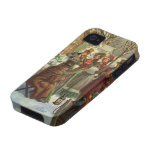 Vintage Christmas, Victorian Musicians Case-Mate iPhone 4 Covers