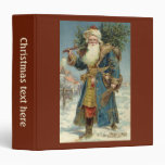 Vintage Christmas, Victorian Santa Claus Vinyl Binder