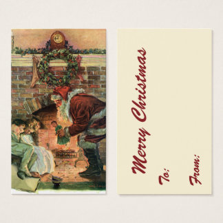 Vintage Christmas, Victorian Santa Claus Children Business Card