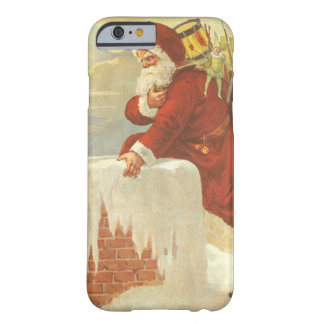 Vintage Christmas, Victorian Santa Claus Chimney Barely There iPhone 6 Case
