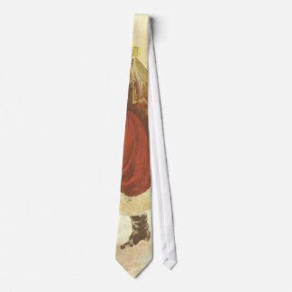 Vintage Christmas, Victorian Santa Claus Chimney Tie