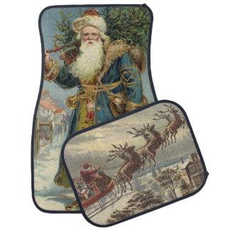 Vintage Christmas, Victorian Santa Claus Floor Mat