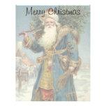 Vintage Christmas, Victorian Santa Claus Custom Letterhead