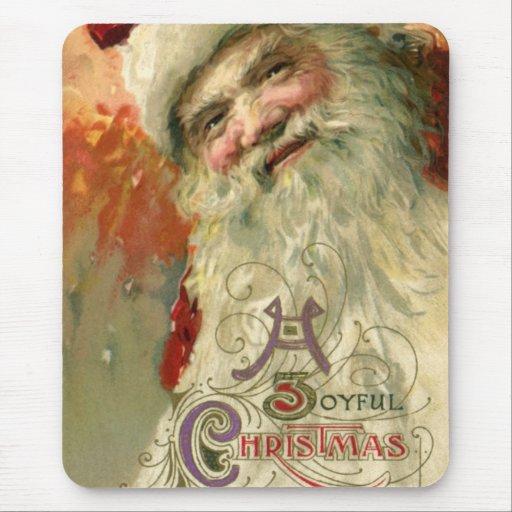 Vintage Christmas, Victorian Santa Claus Mouse Pads