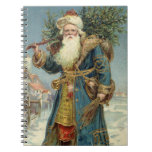 Vintage Christmas, Victorian Santa Claus Spiral Note Books