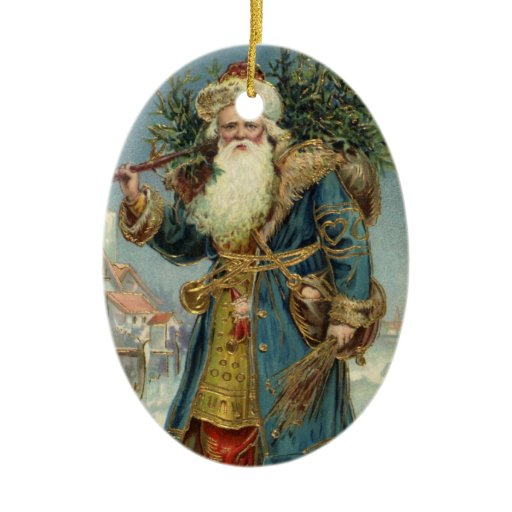 Victorian Father Christmas Decorations: Vintage Christmas, Victorian Santa Claus Christmas Tree