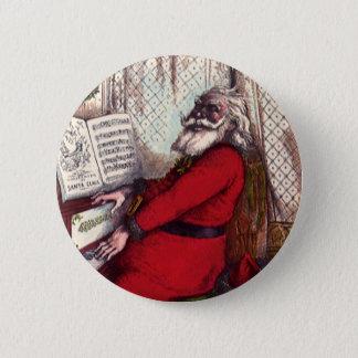 Vintage Christmas, Victorian Santa Claus Piano Button