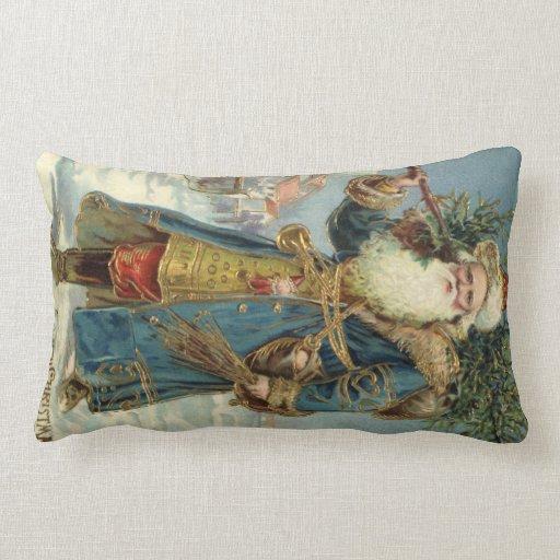 Vintage Christmas, Victorian Santa Claus Pillow