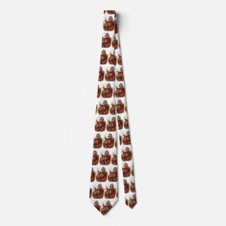 Vintage Christmas, Victorian Santa Claus Pipe Toys Tie