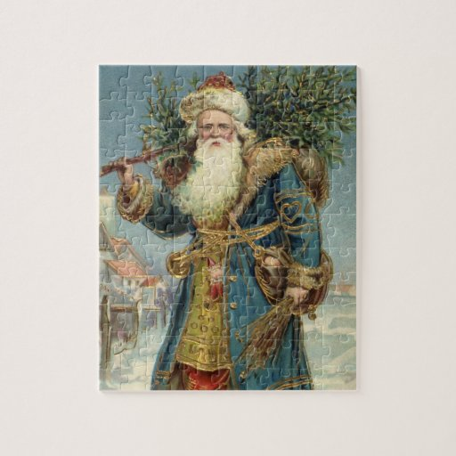 Vintage Christmas, Victorian Santa Claus Jigsaw Puzzles