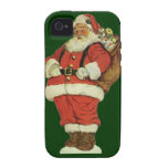 Vintage Christmas, Victorian Santa Claus Toys iPhone 4/4S Cases