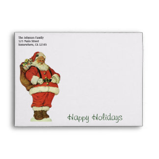 Vintage Christmas, Victorian Santa Claus Toys Envelope