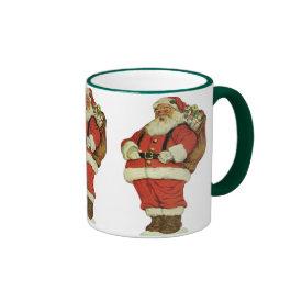 Vintage Christmas, Victorian Santa Claus Toys Mug