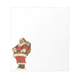 Vintage Christmas, Victorian Santa Claus Toys Memo Notepad