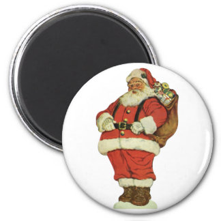 Vintage Christmas, Victorian Santa Claus with Toys Magnet