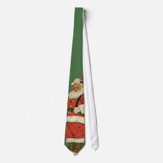 Vintage Christmas, Victorian Santa Claus with Toys Neck Tie