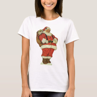 Vintage Christmas, Victorian Santa Claus with Toys T-Shirt