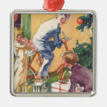 Vintage Christmas, Vintage Children with Presents Ornament