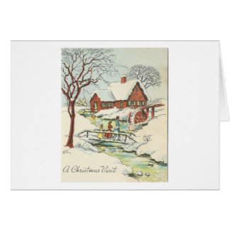 Vintage Christmas Visit Card