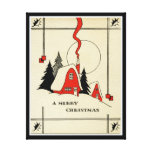 Vintage Christmas Wall Canvas Gallery Wrap Canvas