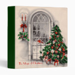 Vintage Christmas Window Binder