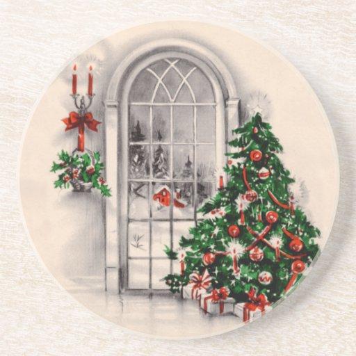 Vintage Christmas Window Coasters